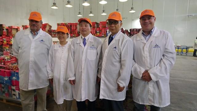 Visita de embajador chino en Chile a Planta de Rucaray