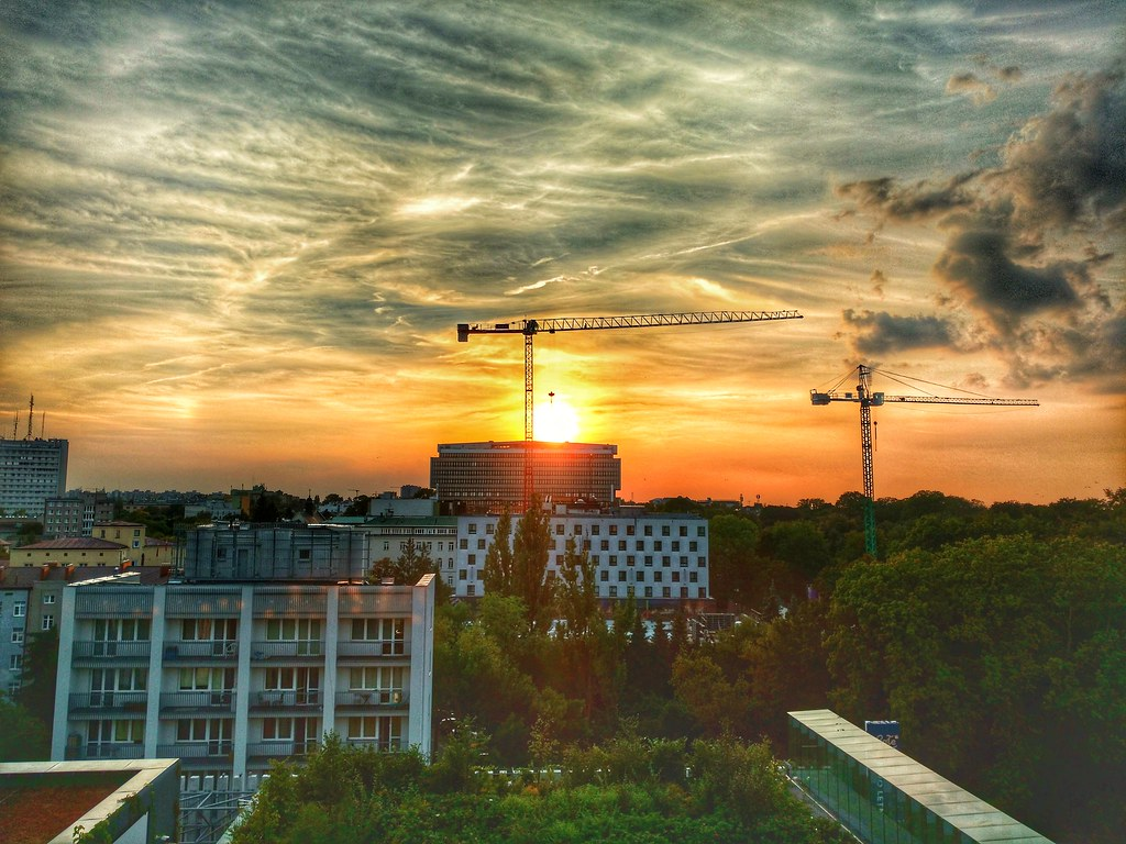 Sunset in Lublin