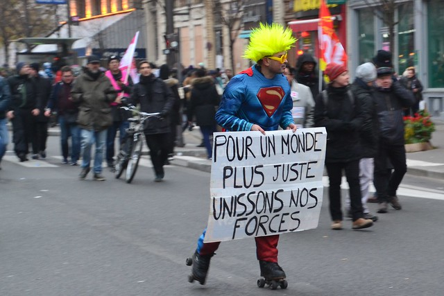 Unissons nos forces -  let us unite our forces (struggle to defend french pensions)