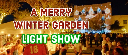 Merry Winter Garden Light Shows