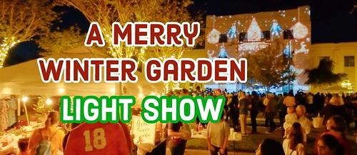 Merry Winter Garden Light Shows