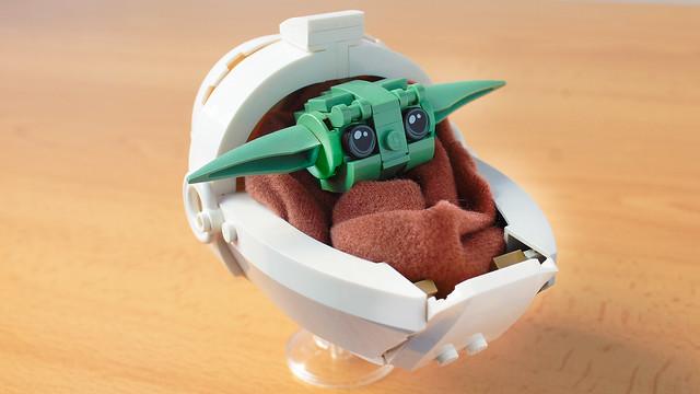 Lego Baby Yoda from the Mandalorian
