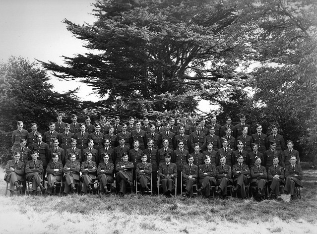 Barrage Balloon Command Flt Sgt Richard Marrable. ( Front row, 7th from left) at RAF Chigwell.