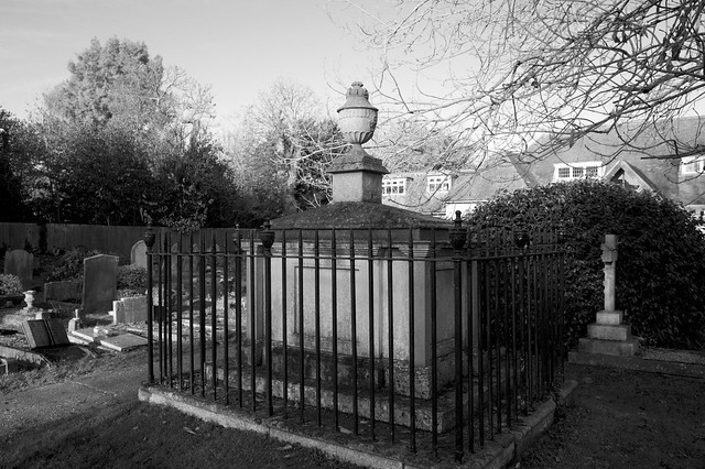 Chest tomb in the churchyard