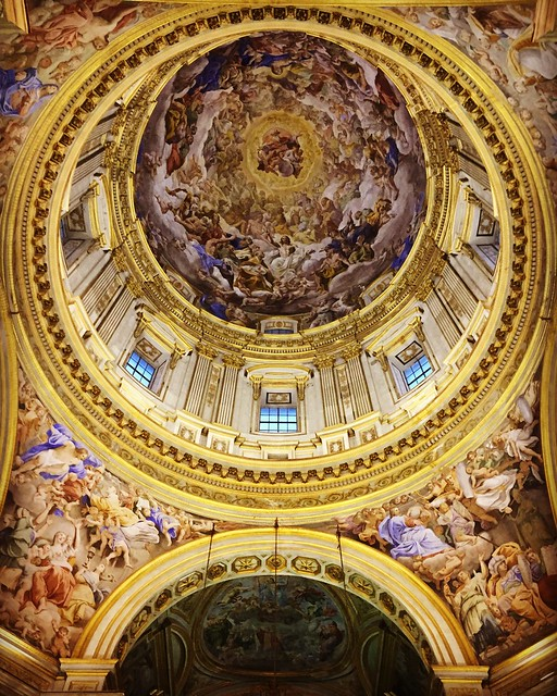 The ceiling of The Chiesa di San Gennaro in Naples, Italy.