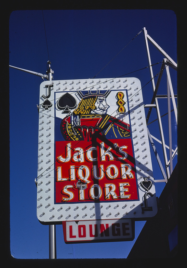 Jack's Liquor sign, Central Avenue, Albuquerque, New Mexico (LOC)