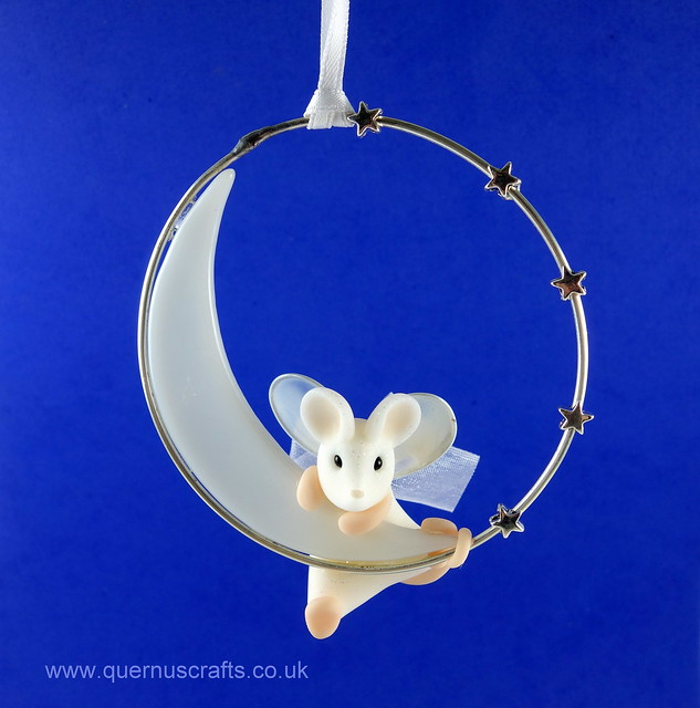 Little Angel Mouse on Glass Moon