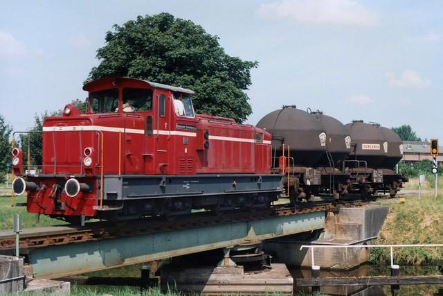 D21 van de Bentheimer Eisenbahn in Coevorden op 6-7-1994 (SCAN)