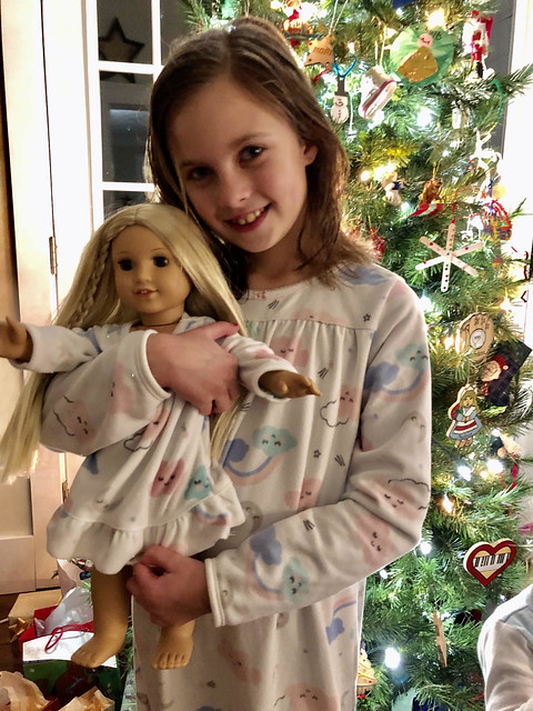 Nora with her American Girl doll