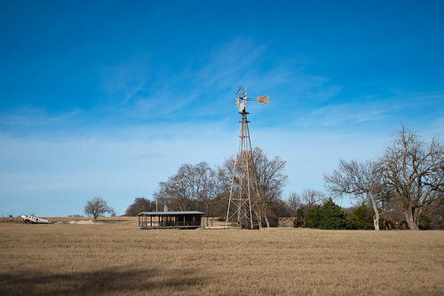 airplane windmill tractor bluesky pasture texas sightsfrommyhikes