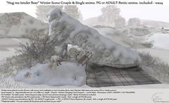 """.:Tm:.Creation """"Hug me tender Bear"""" Winter Scene"""