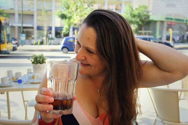 Lisbon 2019 - My wife Lisa at DejaVu Seven -  Saldanha  ·  Av. Fontes Pereira de Melo