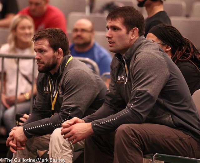 SDSU coaches Chris Dardanes and Cam Simiaz - 191206mk0113