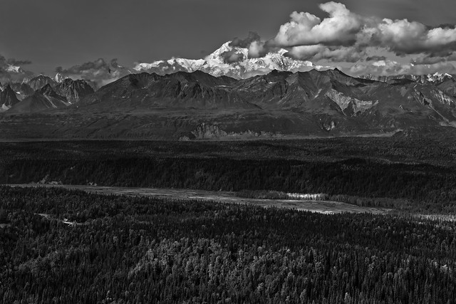 I Am Rewarded with Grandeur as I Walk Amongst the Mountains (Black & White, Denali National & State Parks)