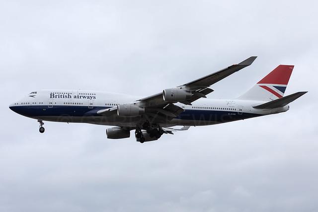 British Airways Boeing 747-400 G-CIVB [LHR]