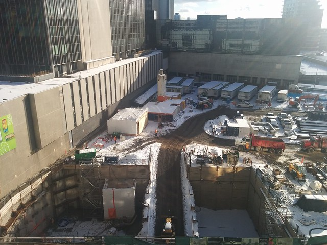 Construction at Eglinton Station #toronto #yongeandeglinton #eglintonstation #eglintoncrosstown #eglintonavenue #construction