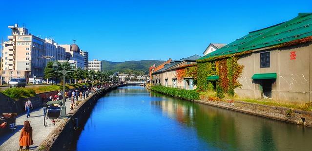 Otaru, a port city on Hokkaido.