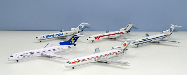 Comparing 1:400 Boeing 727-200s