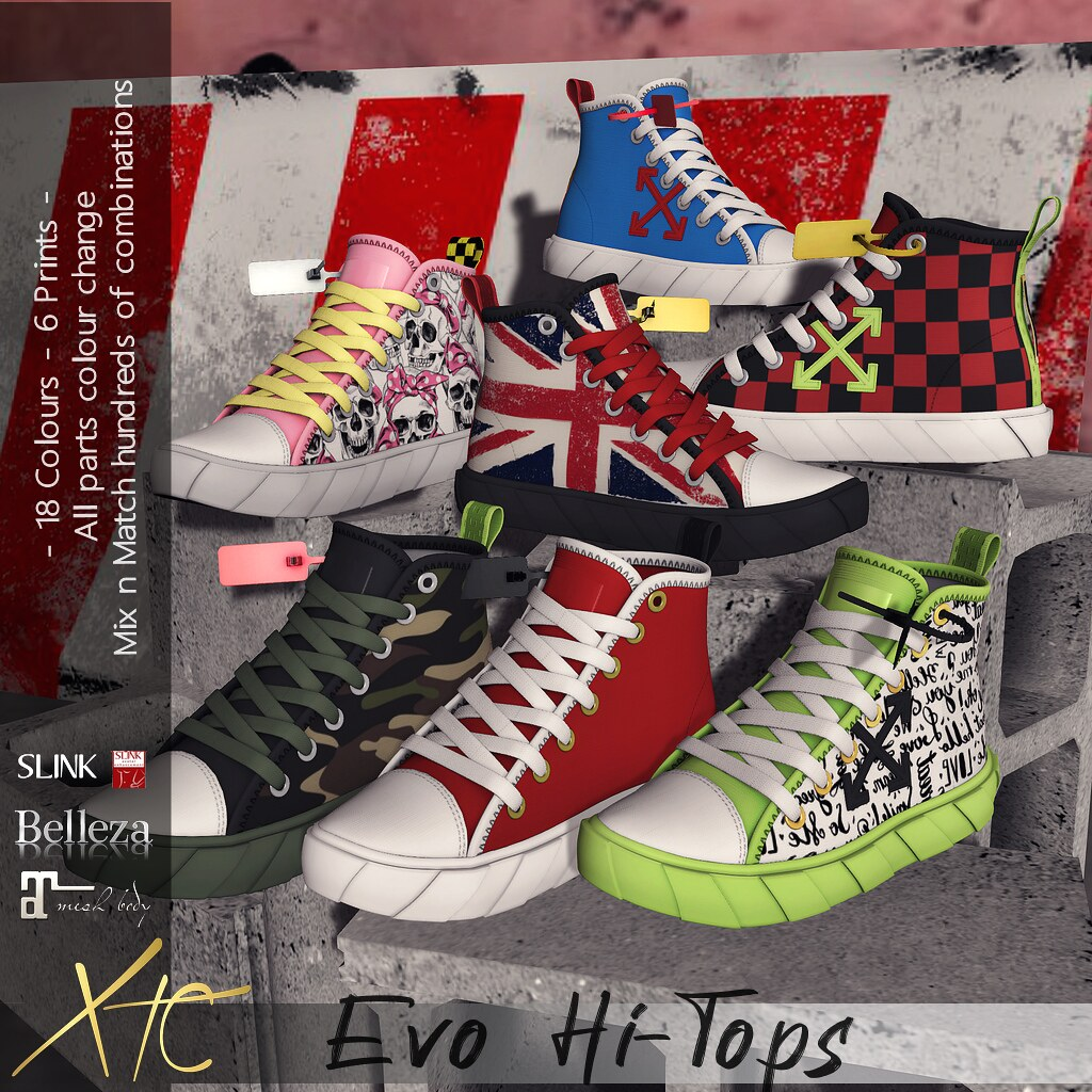 .Evo Hi-Tops. Multi options!