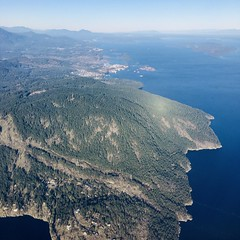 Views from the 11-minute flight from Vancouver to Victoria.