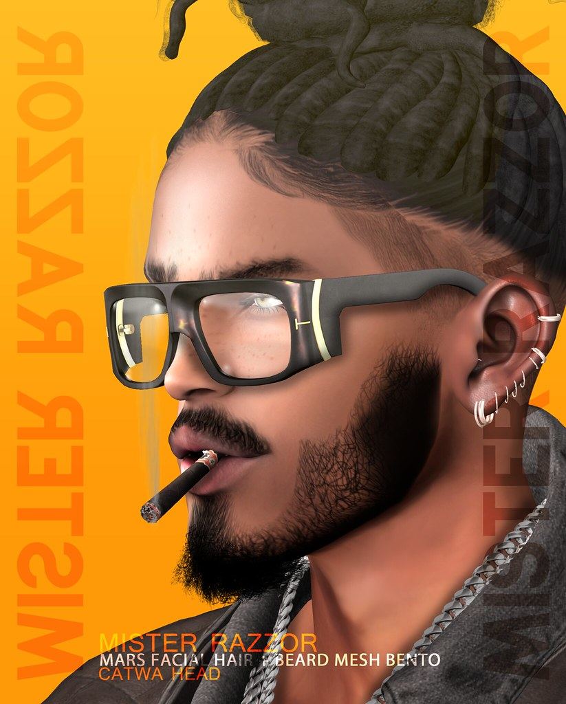 ((Mister Razzor)) Mars Facial Hair + Beard Mesh Bento for Catwa Head