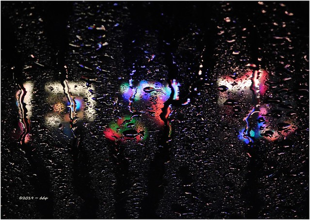 Christmas Lights Done in a *Rainting* ~ Results Like Modern Art