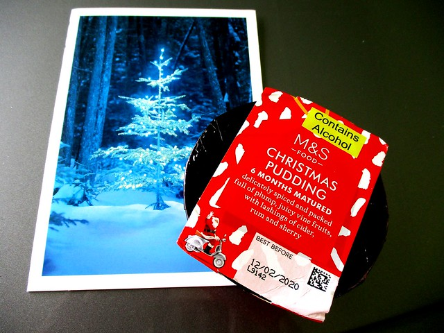 Christmas pudding & card