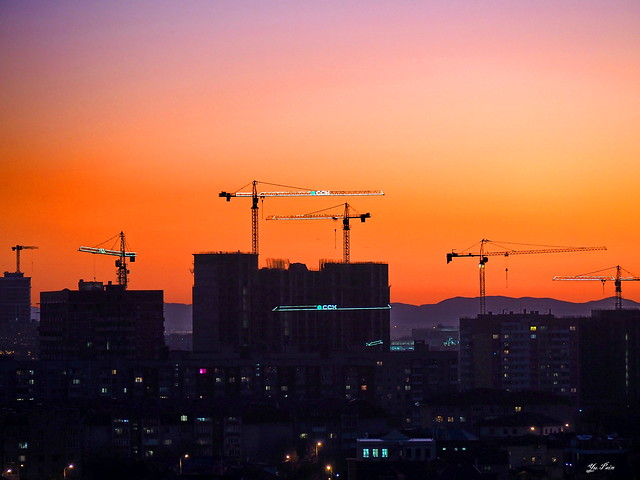 Городской закат. Urban sunset