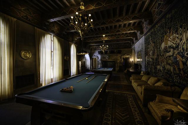 Billard Room in Hearst Castle - California - USA