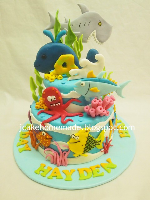 Underwater birthday cake 海洋动物蛋糕
