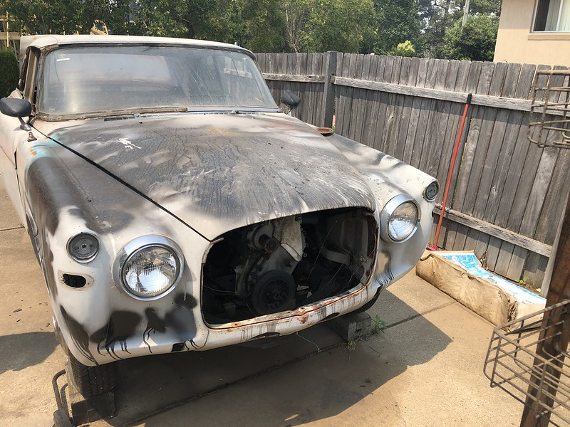 Rover P5 Coupe parts car update