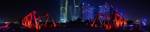 Shanghai - Shipyard Bridge 180° Panorama