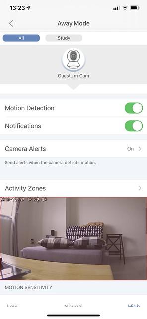 Tapo C200 - Detection - Away Mode