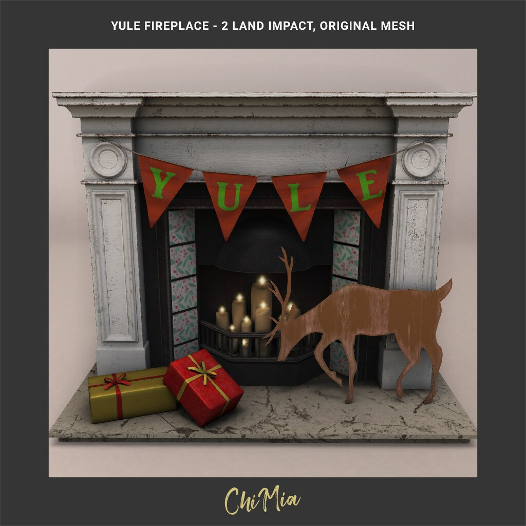 The Saturday Sale 7 Dec 2019: Yule Fireplace by ChiMia