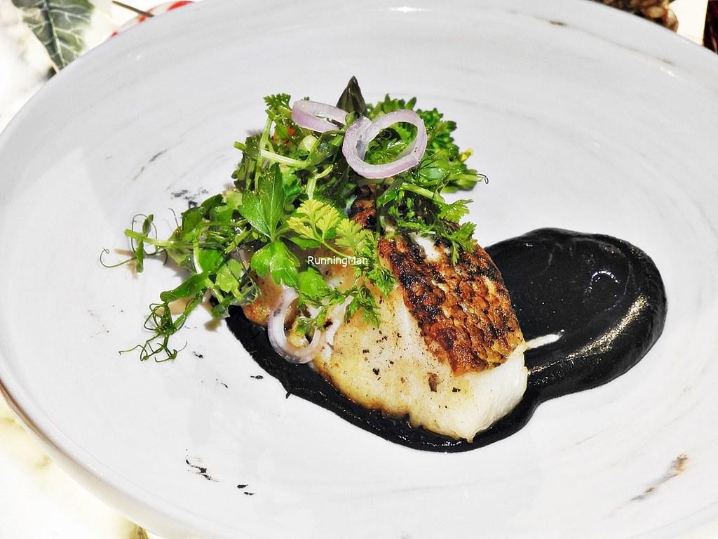 Cod Fish With Jet-Black Puree