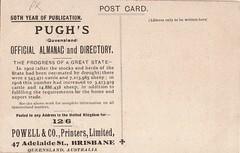 advertisement pughsalmanac queensland vintage australia 1909 directory brisbane