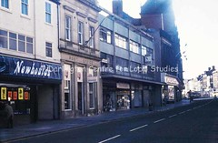 Former GPO, Post Office building (centre) Northgate, looking towards Woolworths and King's Head Hotel, 1986