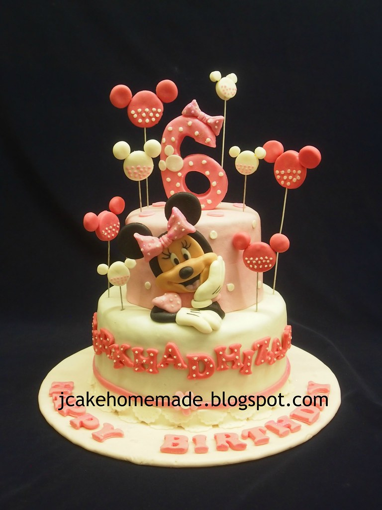 Fabulous Minnie Mouse Birthday Cake A Photo On Flickriver Funny Birthday Cards Online Alyptdamsfinfo