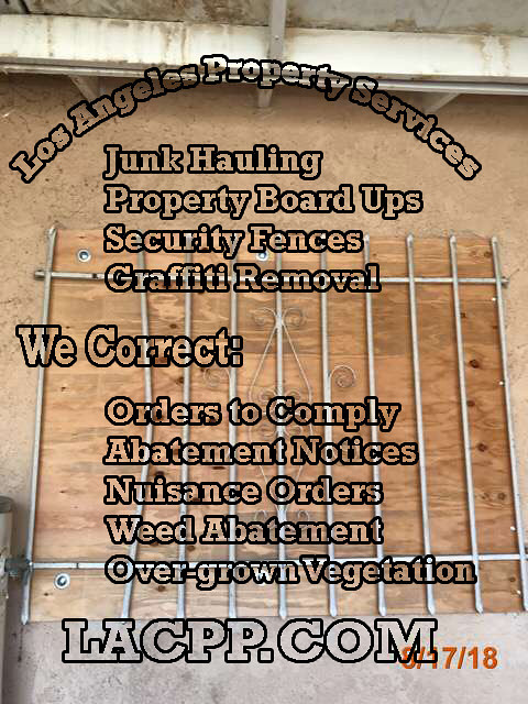 property board up company long beach