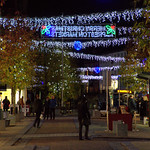 Festive lights in Preston, Lancashire