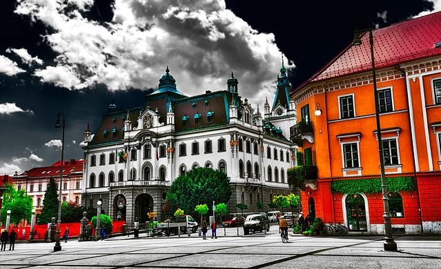 Ljubljana - Last colors in Congress Square