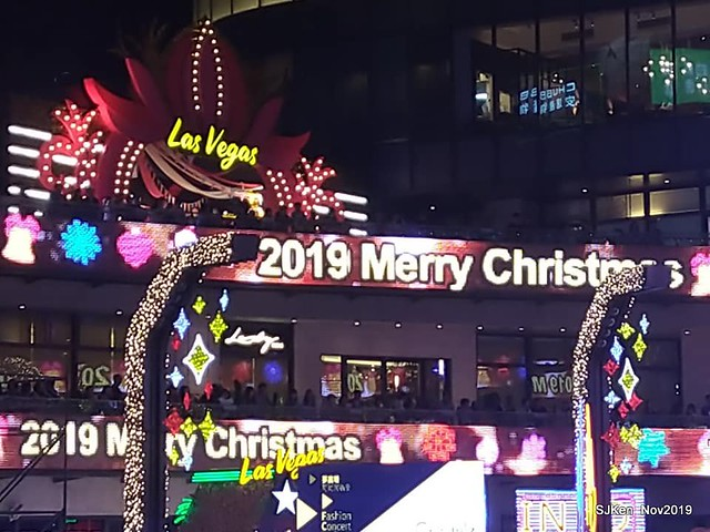 "Christmas decoration with the theme of "" Love Sharing at LasVegas""  at the plaza of Taipei United department store, Taipei, Taiwan, SJKen, Nov 17, 2019"