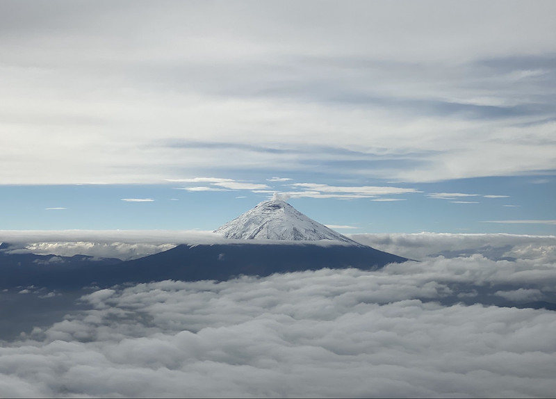 (Active) Cotopaxi Stratovolcano at 5,897 meters (19,347 ft) above sea level, the Avenue of the Volcanoes, the Andes, Equador.