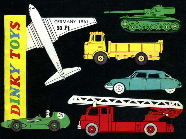 Dinky Toys 1961 Catalogue Cover for Germany, only 20 Pfennigs