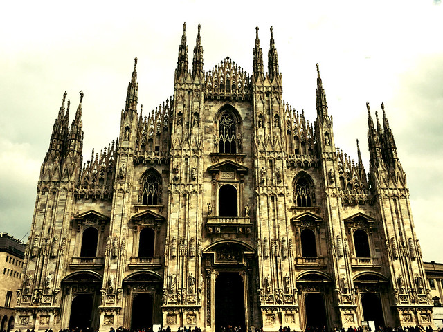 Cathedral of Milan:  an alchemical cathedral...the regulation of the telluric movements even imperceptible to the human being, coming from the center of the earth.