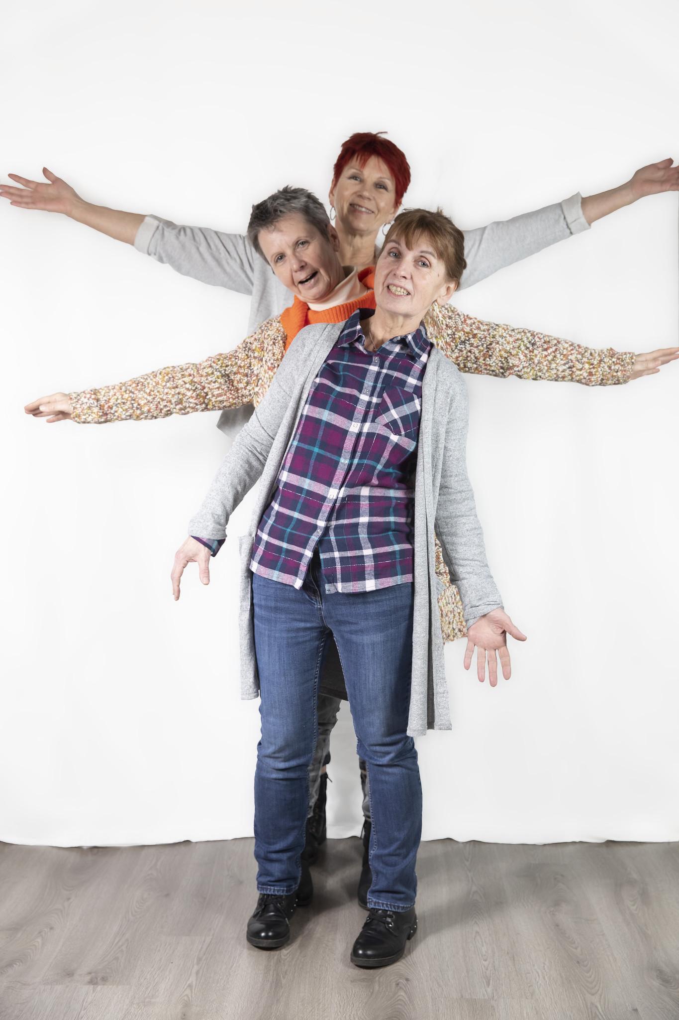 Fotoshooting Drei Schwestern