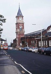 Bank Top station clock and entrance from Park Lane, 1991