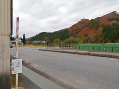 代行バスは国道沿いの駅入口付近が乗場になっている
