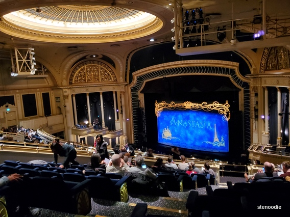 Anastasia the musical at the Ed Mirvish Theatre