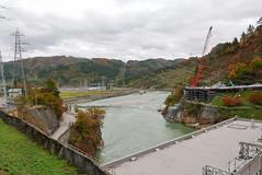 第六只見川橋梁は一旦全て撤去された(わずかに橋桁が見える)